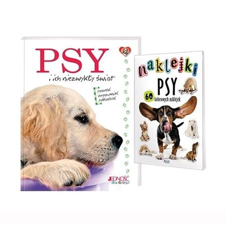 Psy i ich niezwykły świat. Książka + naklejki: Dla dzieci