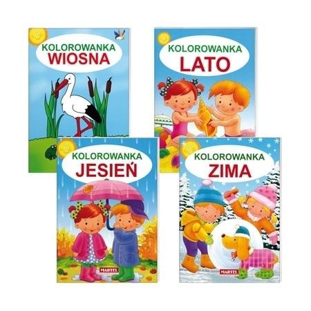 Kolorowanki cztery pory roku 4 książeczki : Dla dzieci