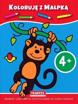 Koloruje +4 dinozaurem i małpką : Dla dzieci