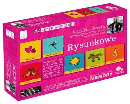 Rysunkowe. Gra edukacyjna memory. Autorska kolekcja gier słynnej podróżniczki Beaty Pawlikowskiej : Dla dzieci