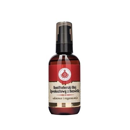 Bonifraterski olej żywokostowy z boswelią. Kosmetyk, 100 ml : Preparaty ziołowe