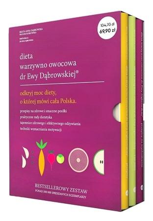Dieta warzywno-owocowa dr Ewy Dąbrowskiej. Komplet 3 książek - Beata Anna Dąbrowska, Paulina Borkowska