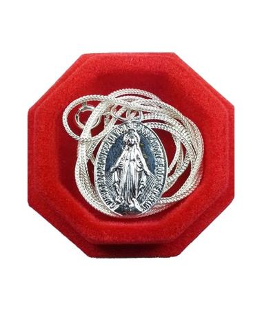 Cudowny medalik z łańcuszkiem - srebrny, w jubilerskim opakowaniu : Dewocjonalia