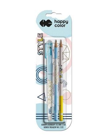 Kolekcja Style - długopis usuwalny + 2 ołówki