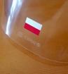 Do każdego egzemplarza półprzyłbicy C7 dołączona jest naklejka polskiej flagi