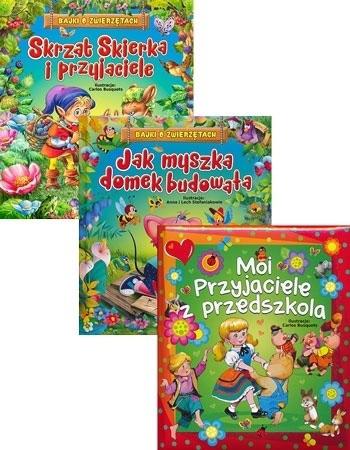 Skrzat Skierka i przyjaciele, Jak myszka domek budowała, Moi przyjaciele z przedszkola - Upominkowy pakiet dla najmłodszych