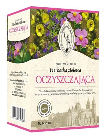 Herbatka ziołowa oczyszczająca, 120 g. (40 saszetek po 3 g)